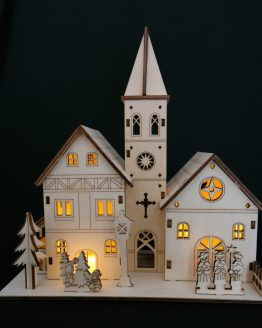 Nativity Wooden Village