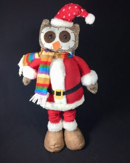 Christmas Owl with Scarf