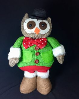 Christmas Owl with Tie