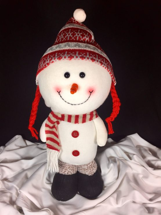 Christmas Snowman with Beanie