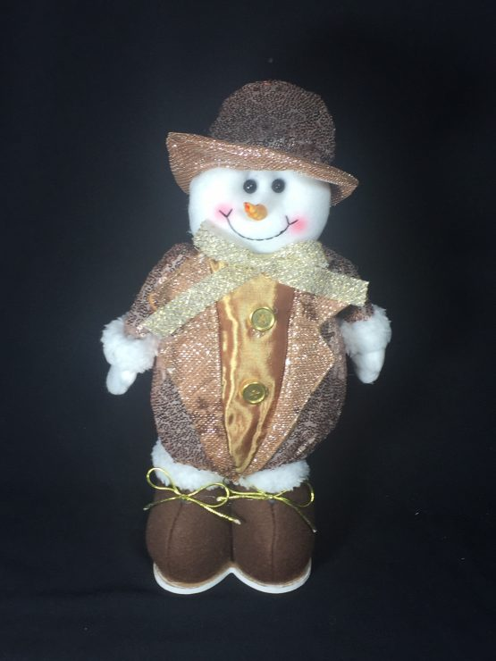 Sparkly Standing Christmas Snowman