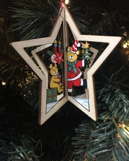 Hanging Christmas Star Ornament