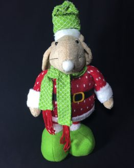 Green Christmas Mouse
