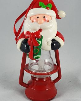 Santa Lantern with gift