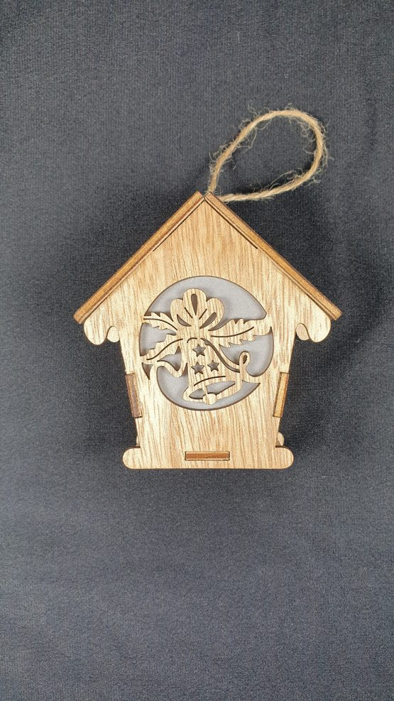 Hanging wooden decoration