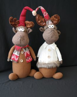 Pair of Tall Moose